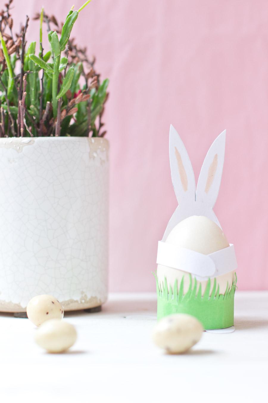 DIY easter paper bunnies tutorial