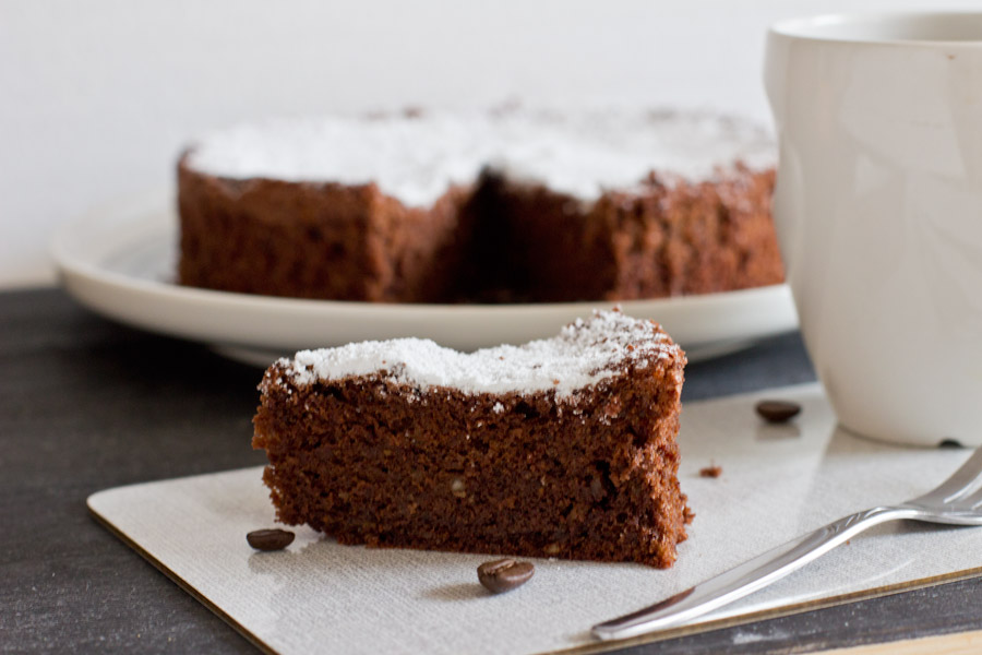 easy coffee chocolate cake