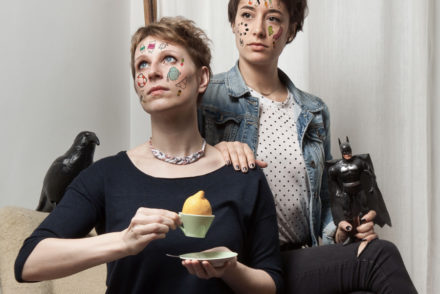 LOOK WHO MADE IT: Temporary tattoo designers Elke Bauer and Barbara Hoffmann from Young & Smitten
