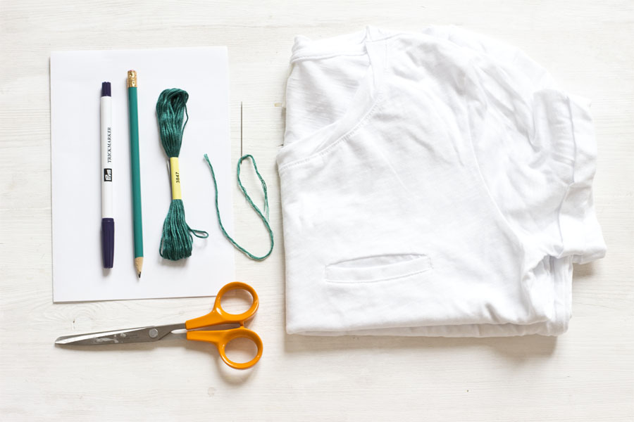 embroidered-t-shirt-diy-tutorial-supplies