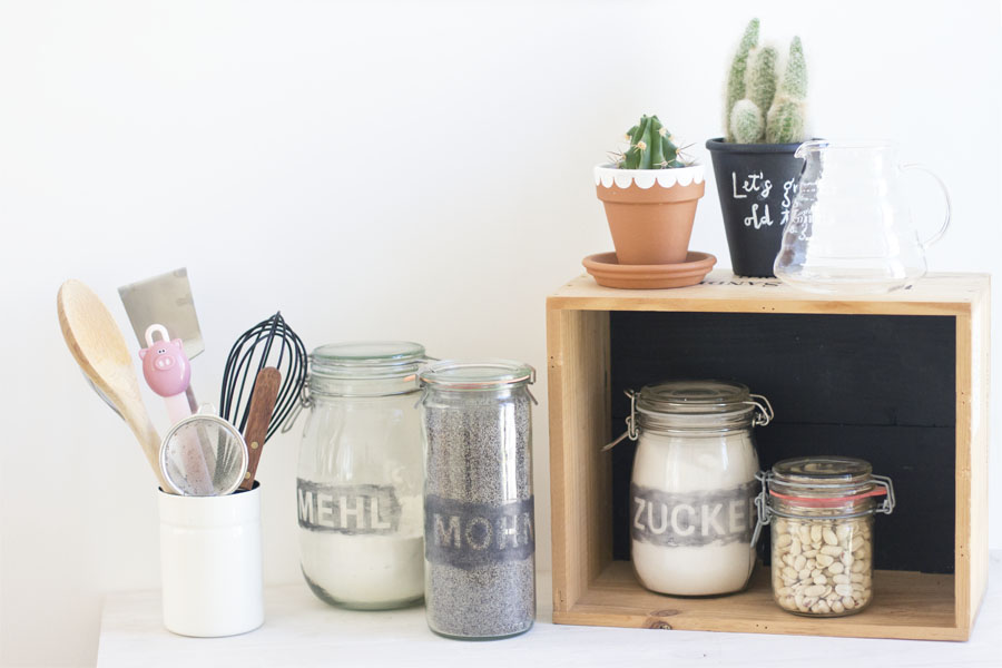 Colored etched storage jars DIY | LOOK WHAT I MADE ...