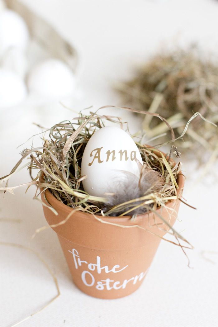 DIY natural and simplistic Easter table decoration | LOOK WHAT I MADE ...