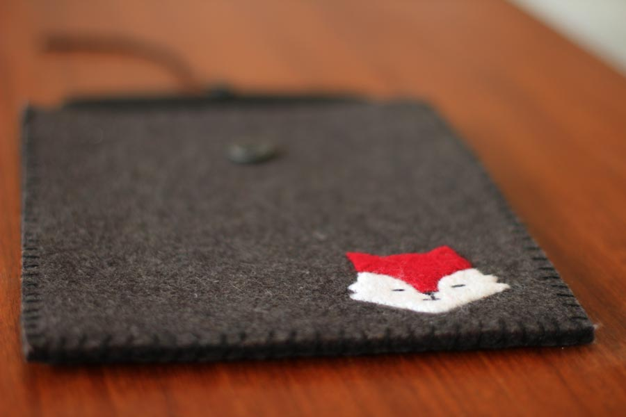 handmade fox ipad sleeve craft