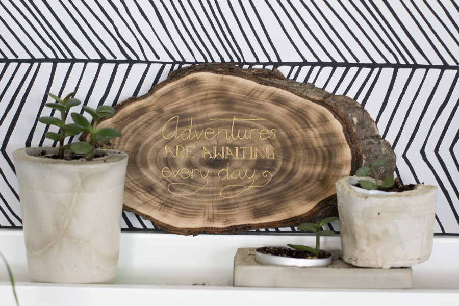 Gold engraved wood sign DIY | LOOK WHAT I MADE ...