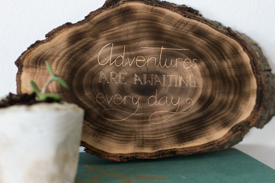 handmade wood engraved sign handlettering sign