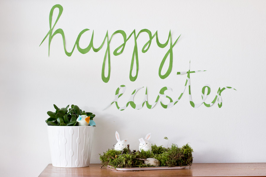 Happy Easter! Wall paper mural DIY tutorial | LOOK WHAT I MADE ...