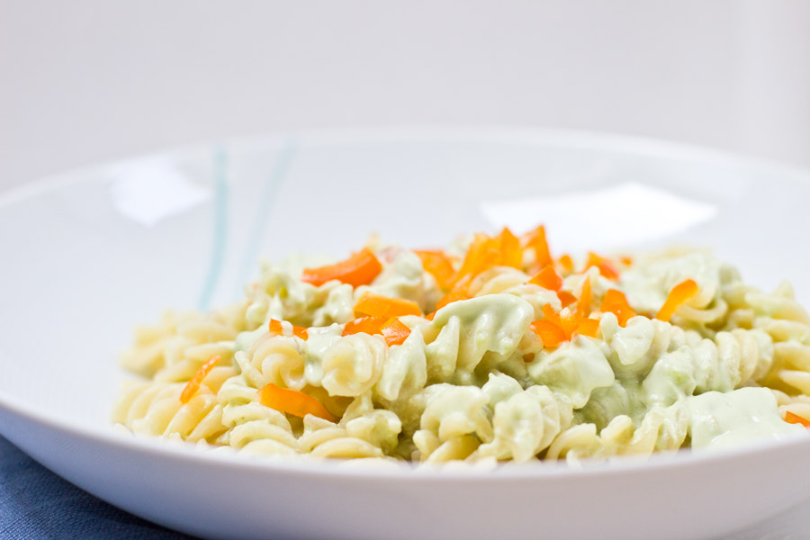 healthy home office lunch pasta recipe