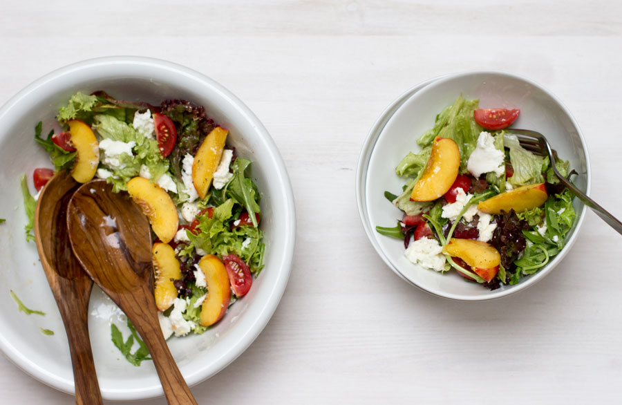 Home office lunch nectarine mozzarella summer salad look what i home office lunch recipe easy and healthy nectarine summer salad forumfinder Gallery