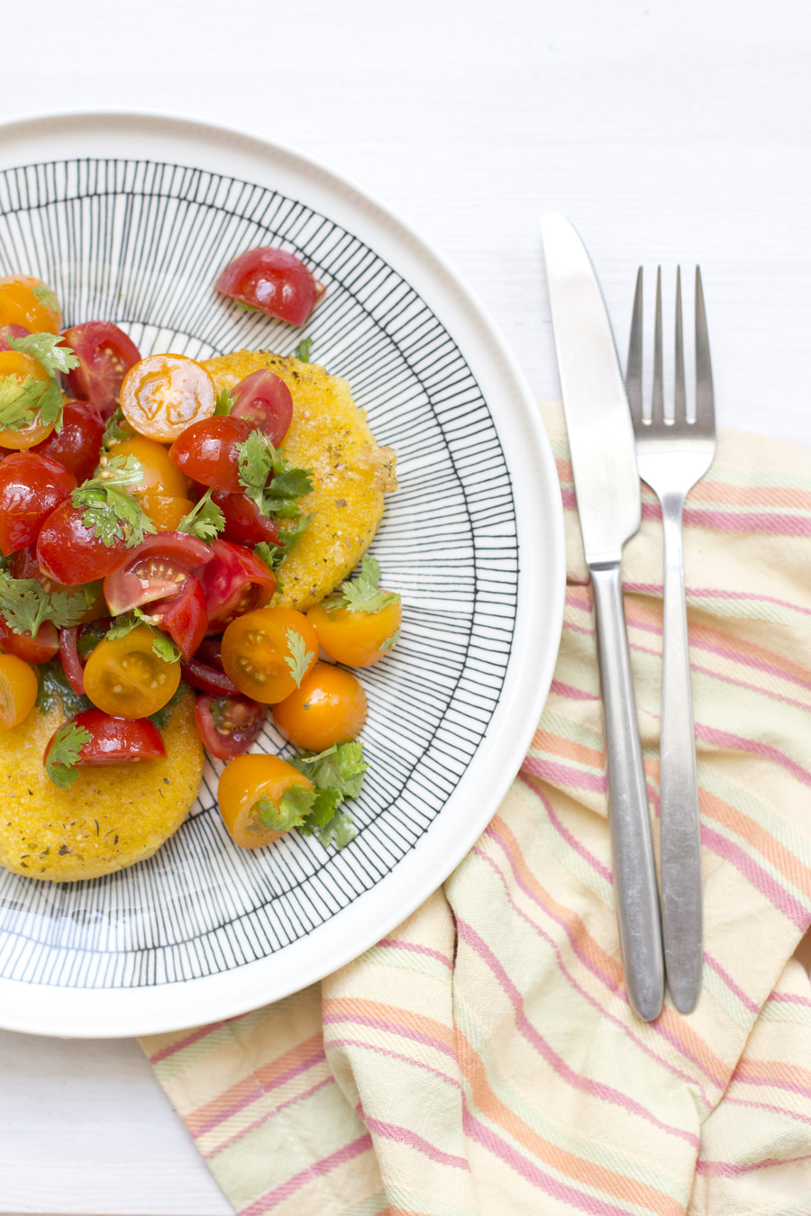 home-office-lunch-polenta-tomato-dish