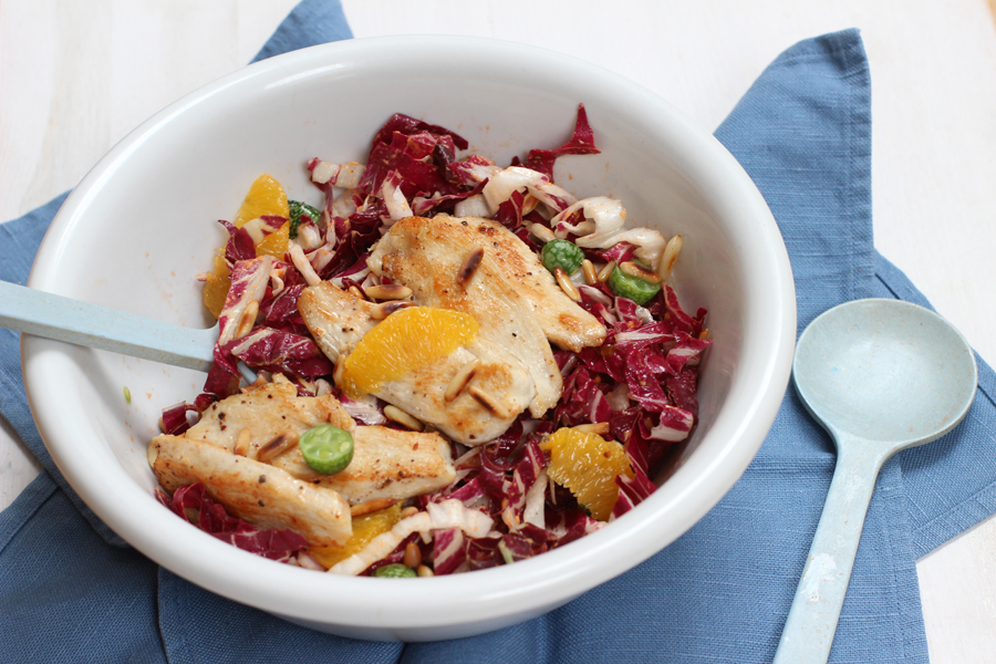 Home Office Lunch: Radicchio salad with chicken and oranges | LOOK WHAT I MADE ...
