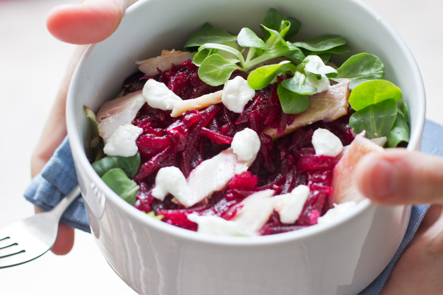 horse-radish-beet-root-trout-lettuce-salad