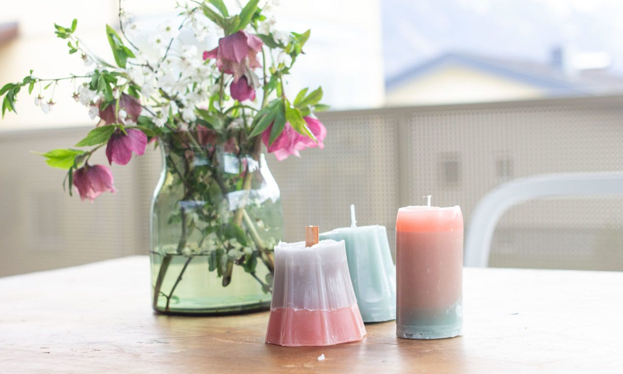 DIY candles from wax leftovers | LOOK WHAT I MADE ...