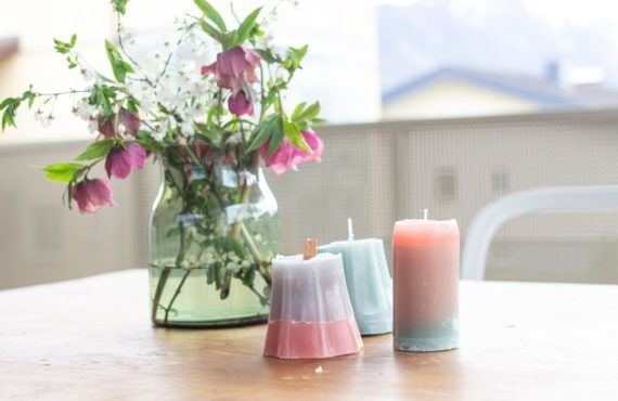 DIY candles from wax leftovers