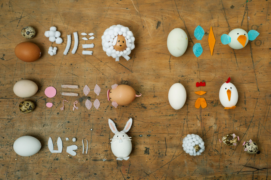 how to make your own egg animals for easter