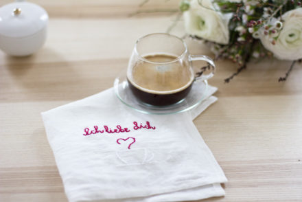 Embroidered napkins for Valentine's Day | LOOK WHAT I MADE ...