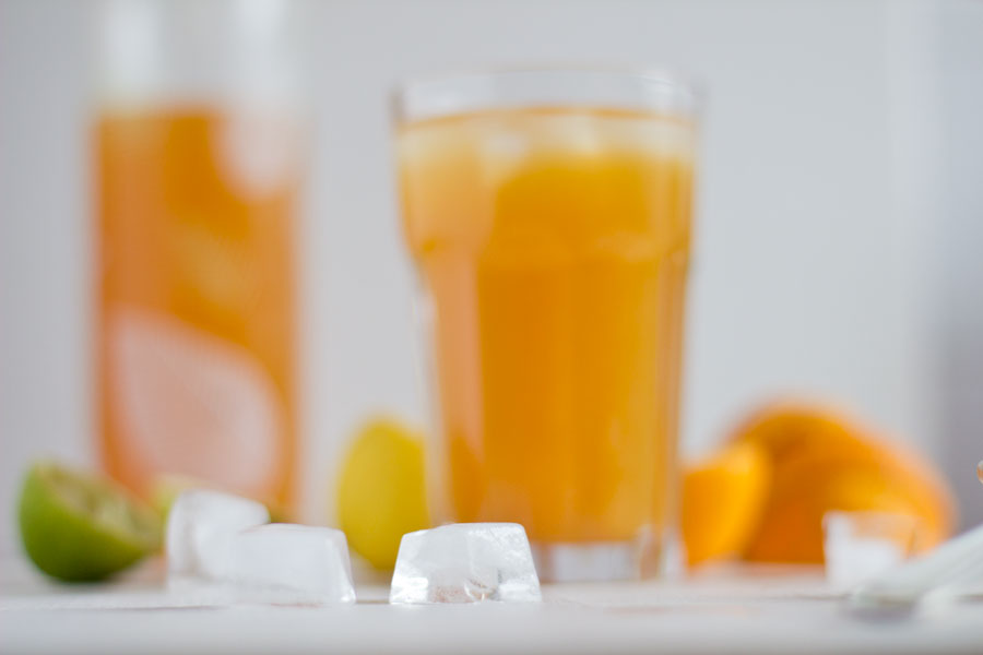 Fresh and healthy spiced citrus iced tea for hot summer days