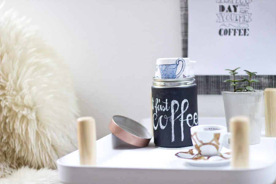 Upcycle an old coffee tin to make beautiful storage for your bits and bobs.   LOOK WHAT I MADE...