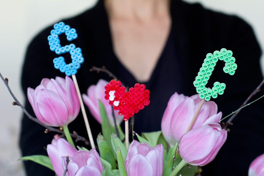 ironing beads love confession flower bouquet