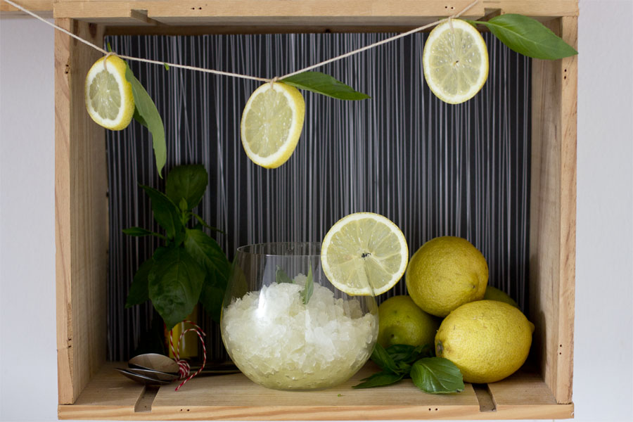 how to make refreshing lemon vodka granita with basil | LOOK WHAT I MADE ...