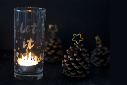 Glass etched winter lantern DIY | LOOK WHAT I MADE ...