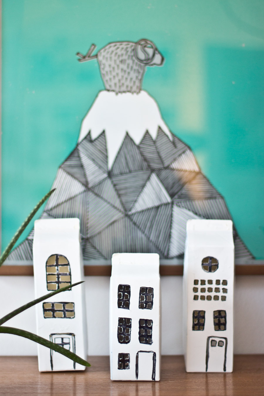 milk-boxes-light-houses-diy