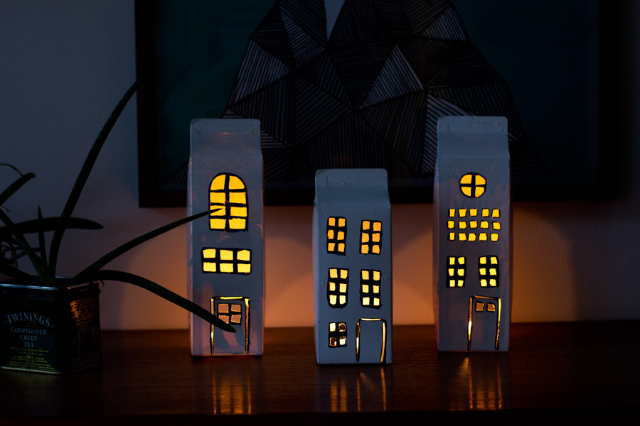 milk-cardboard-light-houses-diy