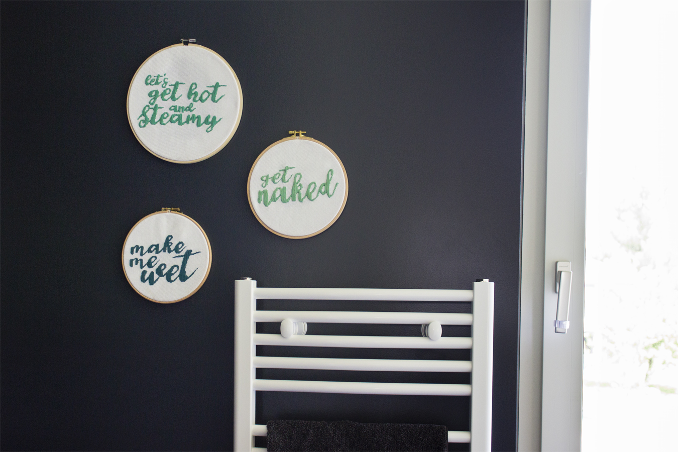 DIY naughty embroidery for the bathroom | LOOK WHAT I MADE ...