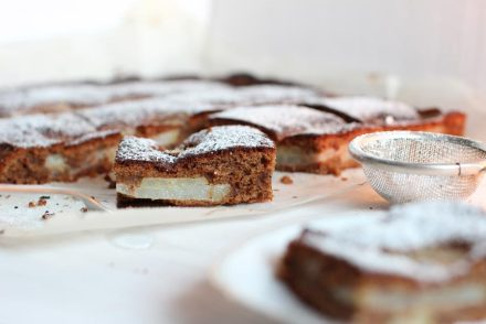 nougat pear sheet cake recipe