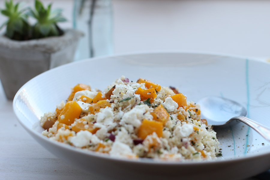 office-lunch-couscous-pumpkin-feta-cheese