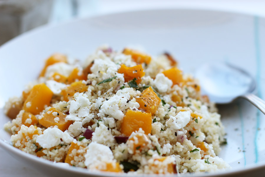 office-lunch-couscous-pumpkin-feta-salad
