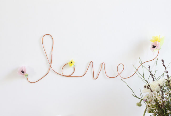 Copper wire love sign | LOOK WHAT I MADE ...