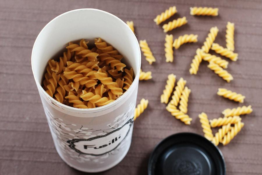 kitchen storage organize pasta diy