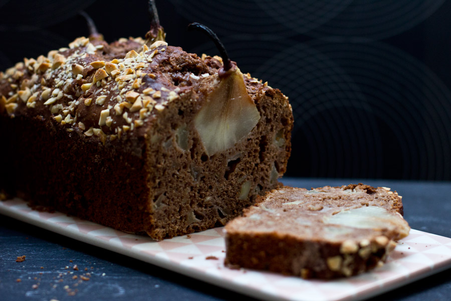 chocolate pear almond cake