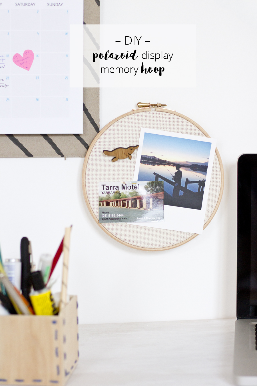 DIY Polaroid display memory embroidery loop | LOOK WHAT I MADE ...