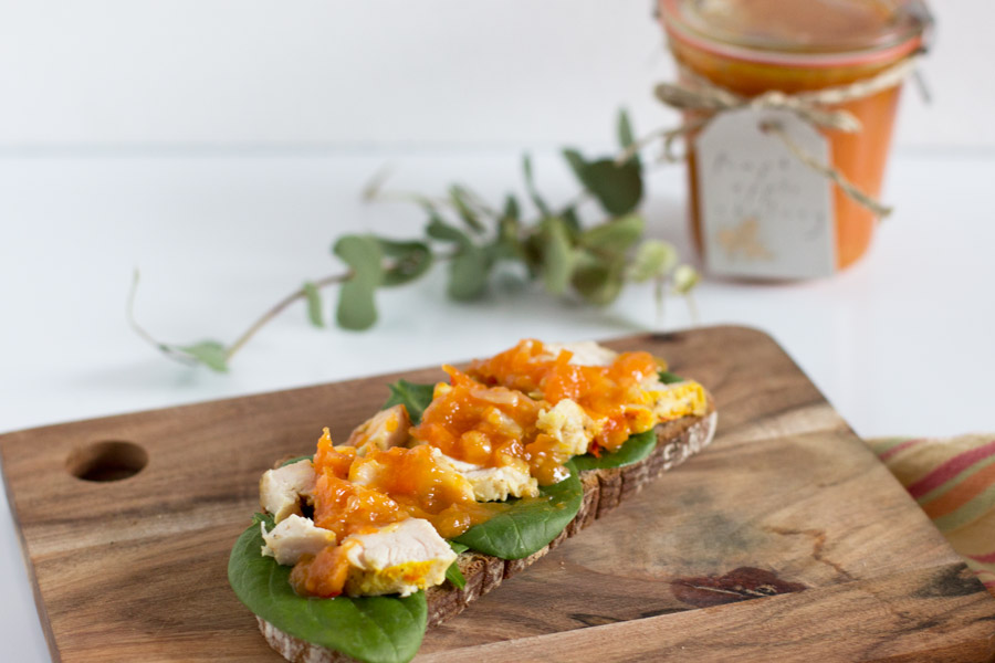 (Home) Office Lunch: Easy chicken and pumpkin chutney sandwich | LOOK WHAT I MADE ...