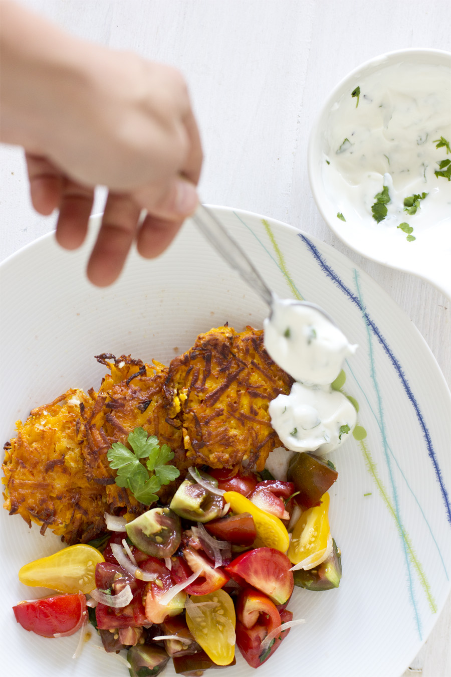 Pumpkin feta fritters with yoghurt dip | LOOK WHAT I MADE ...