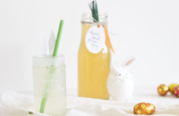 Carrot apple ginger juice for Easter