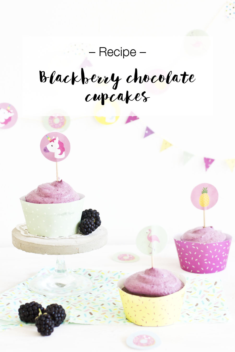 Blackberry chocolate cupcake recipe | LOOK WHAT I MADE ...