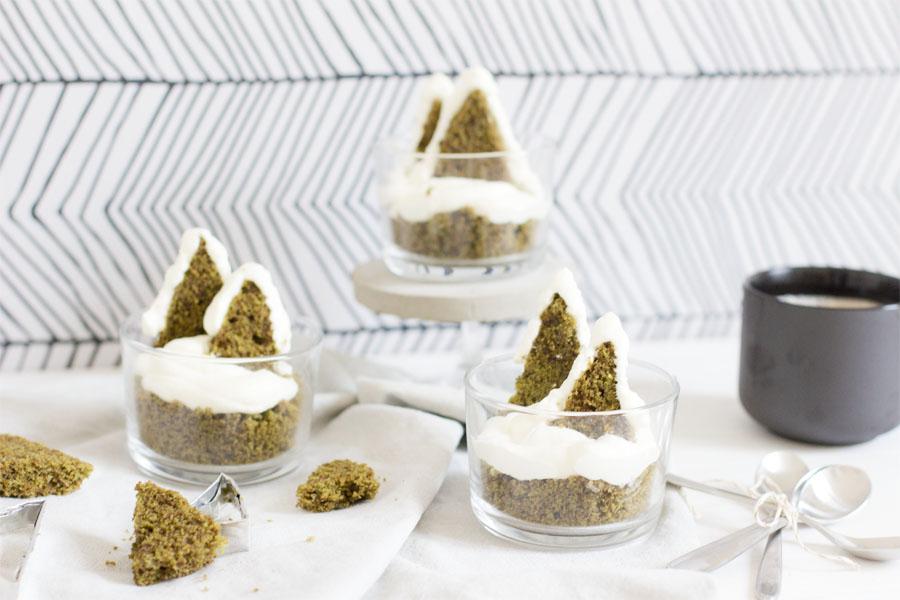 Matcha cake winter wonderland dessert   LOOK WHAT I MADE ...