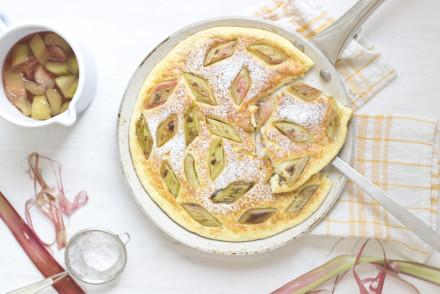 Rhubarb semolina pancake | LOOK WHAT I MADE ...
