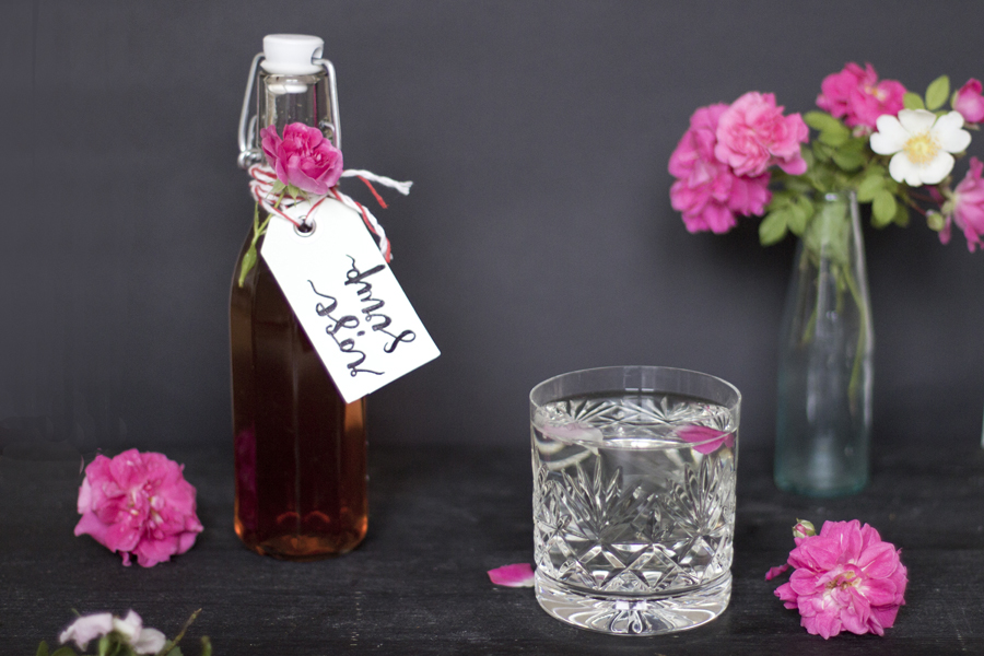 Rose syrup.