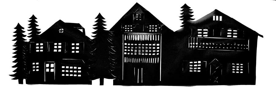 silhouette-lantern-houses
