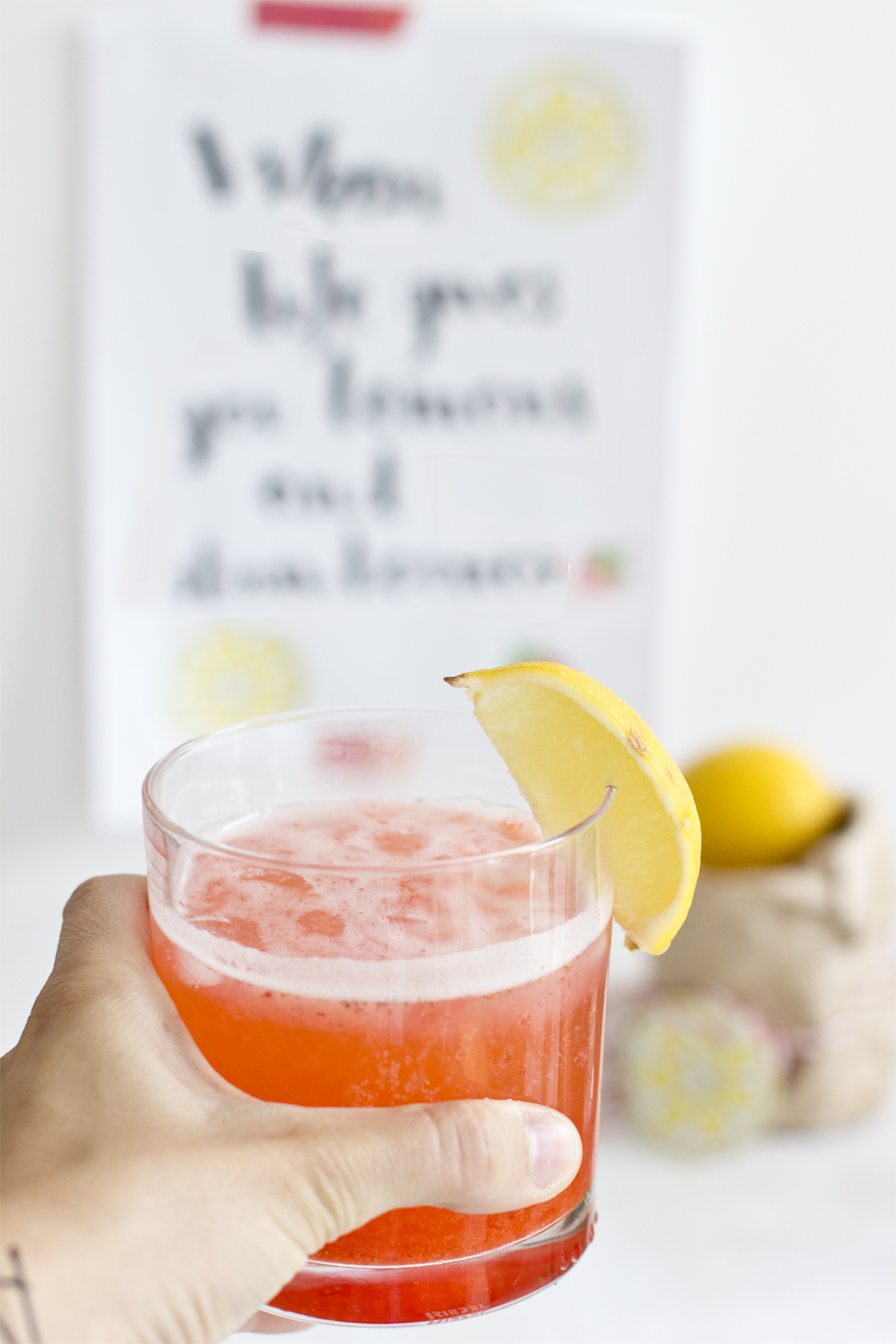 Fresh lemon strawberry juice | LOOK WHAT I MADE ...
