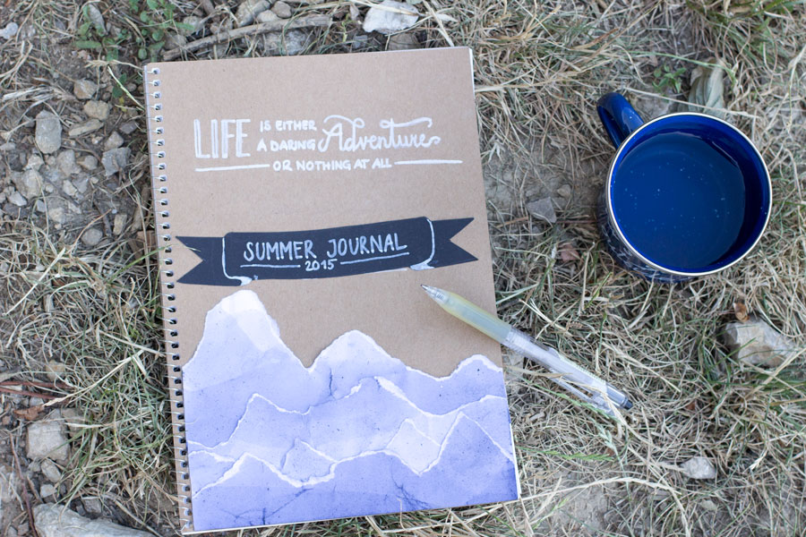 Make a summer journal for adults to write all your adventures down to read when the days get colder and shorter.