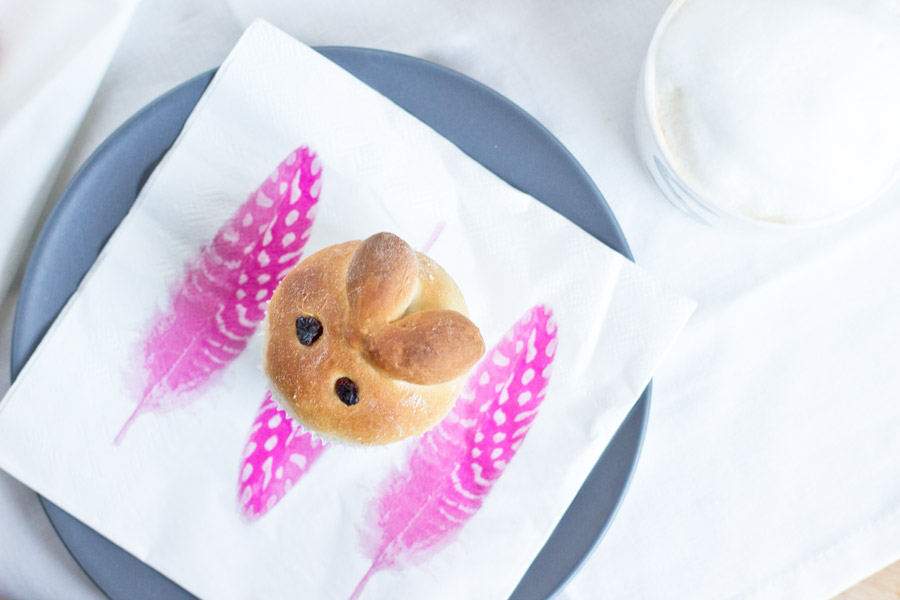 Sweet yeast dough bunny recipe