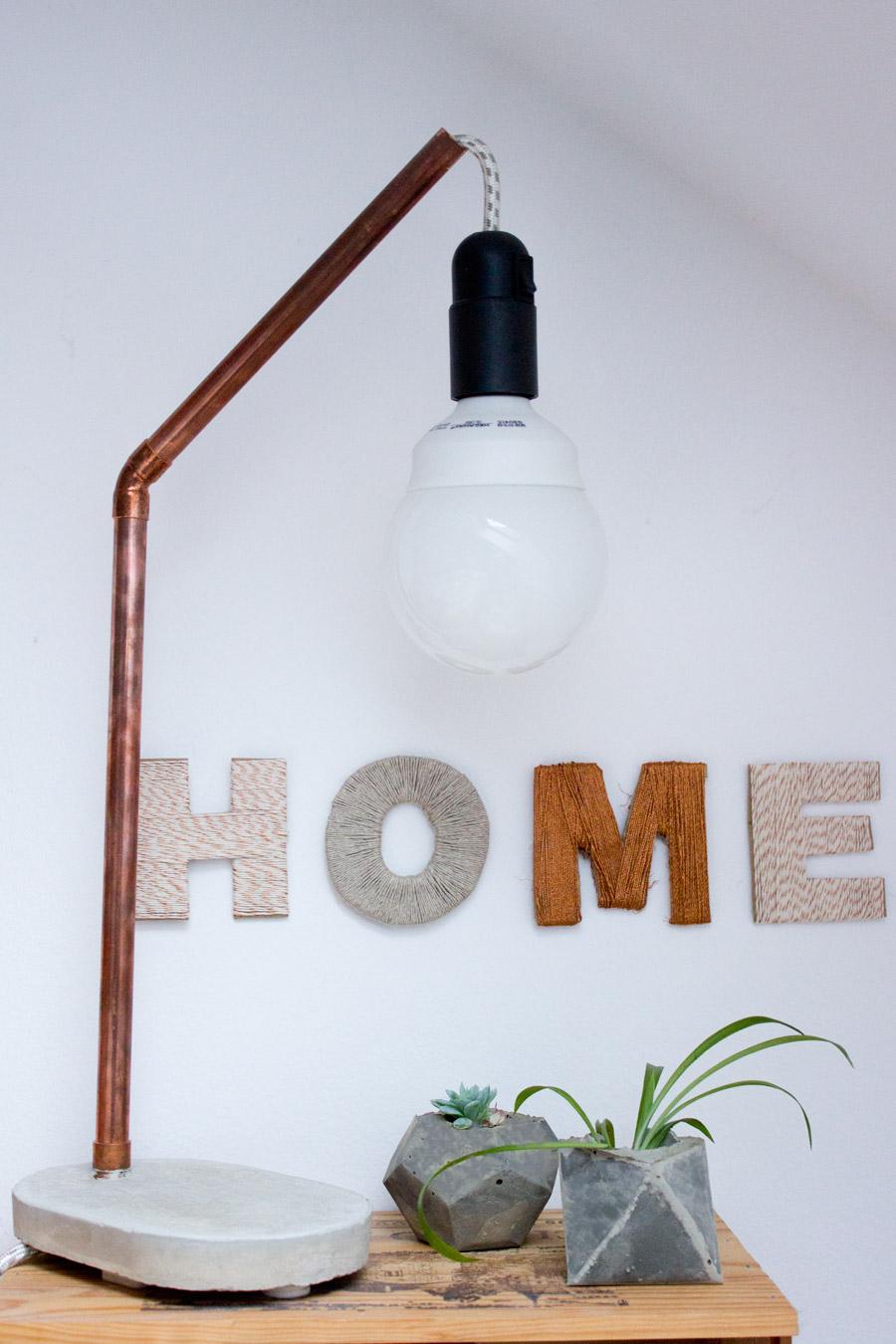 DIY thread letters DIY project idea wall decor