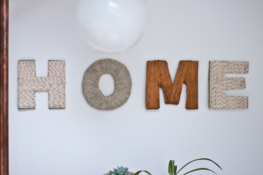 Thread Letter Wall Decoration
