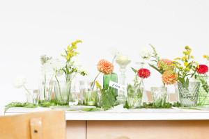 Tisch Dekoration Sommer Blumen Glas Look What I Made