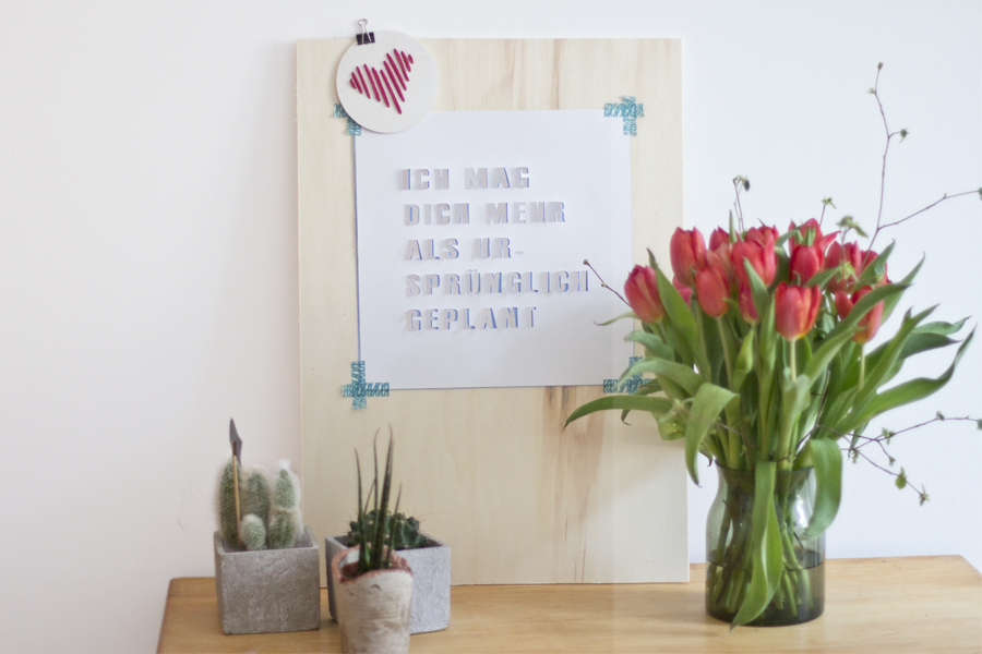 3D typography love quote art DIY   LOOK WHAT I MADE ...