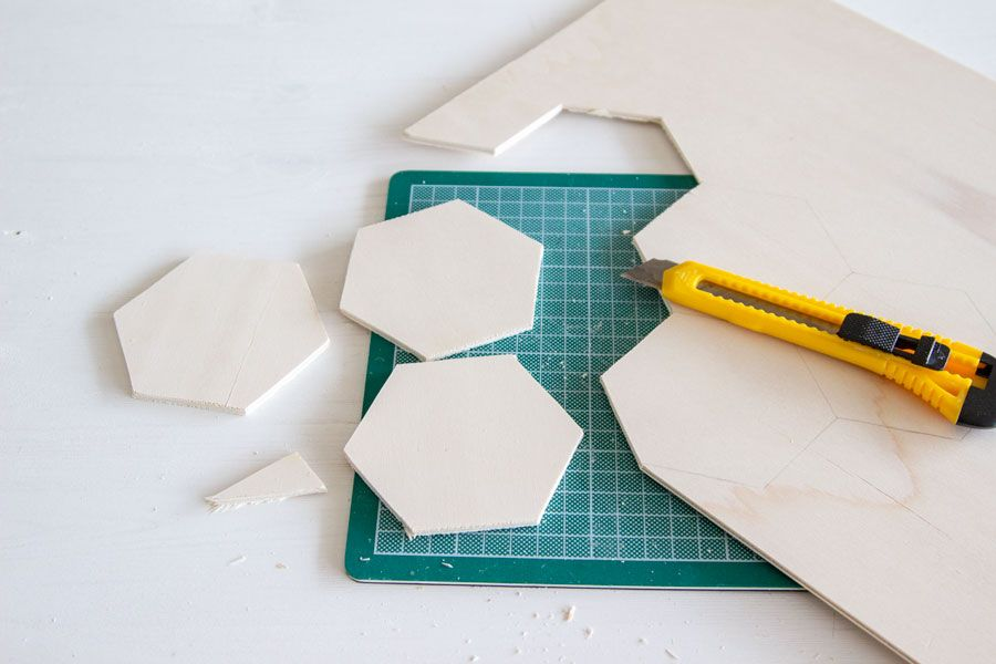 DIY hexagon coasters | LOOK WHAT I MADE ...